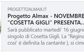 L'articolo su Cosetta Gigli su AlmaxMagazine.