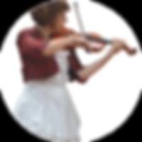 Violoniste en concert