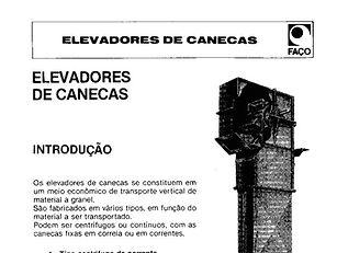 58. Dimensionamento elevador de canecos.