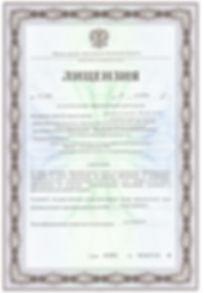 Лицензия образовательной детельность