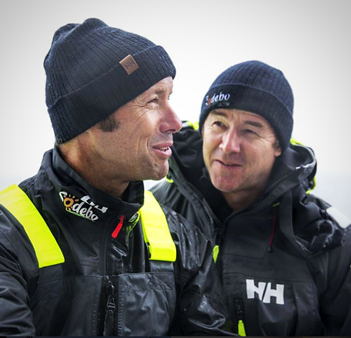 Luc Nélias et Thomas Coville, des équipiers bienveillants