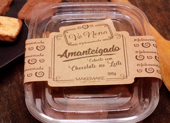 Amanteigado Coberto Com Chocolate ao Leite - 100g