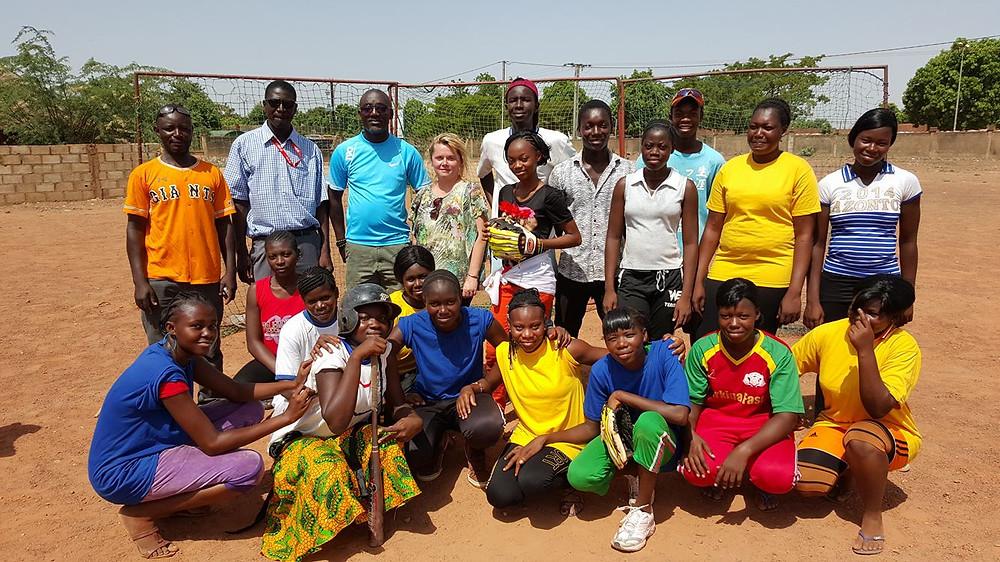 Softball team in Burkina Faso. PC: Play Ball Africa