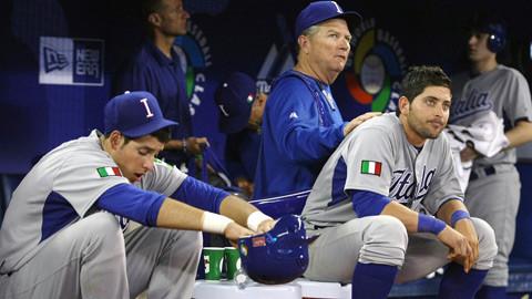 Francisco Cervelli (sitting right ) PC: MLB Properties