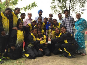 Kerala Softball Association win silver medal in Federation Cup 2016.