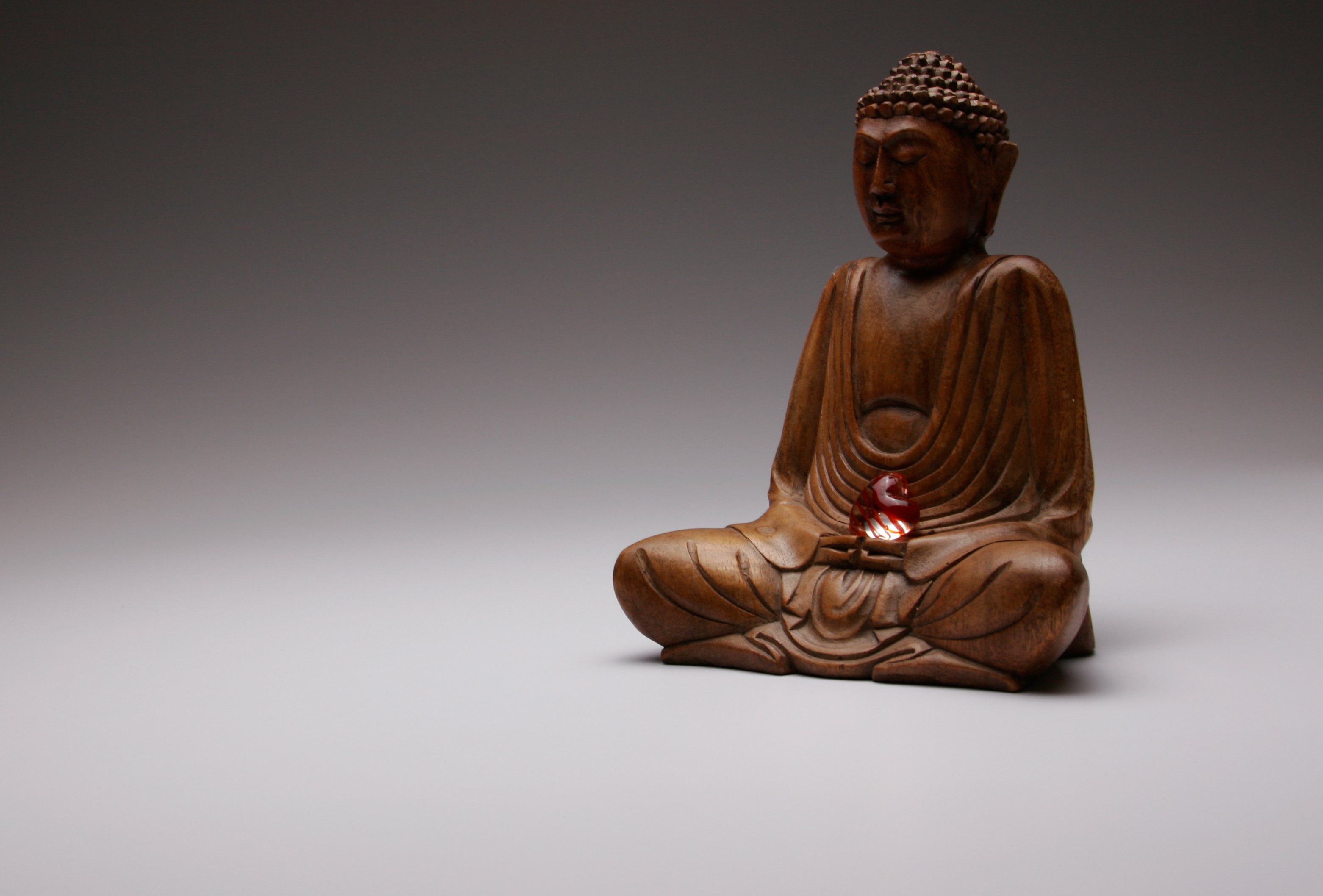 Buddha w/ Glass Heart