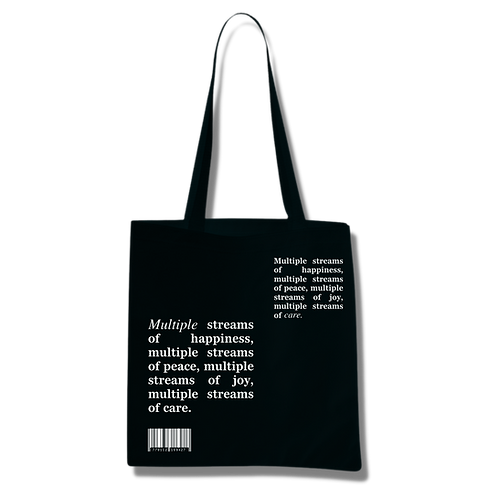 'Multiple Streams of Happiness' Black Tote