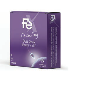 Fe Condom Crowling 3 pcs each pack