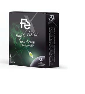 FEX Prezervatif Night Vision 3'lü