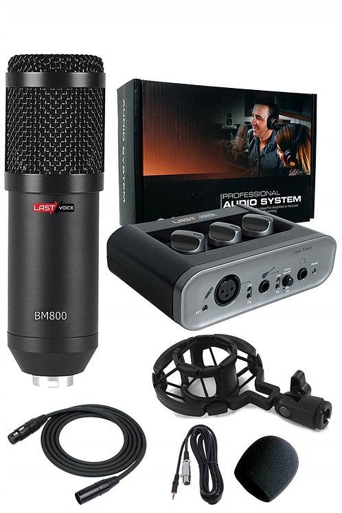 BM800 Mikrofon + Fast Trach USB Ses Kartı