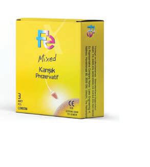 Fe Condom Mixed 3 pcs each pack