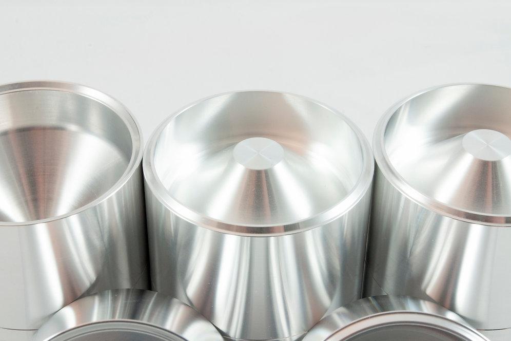 D Cell Aluminum Cups   Solvent Traps