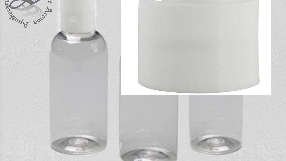 Bath Travel Bottles Set of 3 bottles 80ml 2.7oz Clear Secure TSAAirline Approved