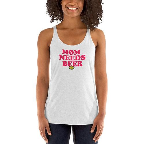 Mom Needs Beer Women's Racerback Tank