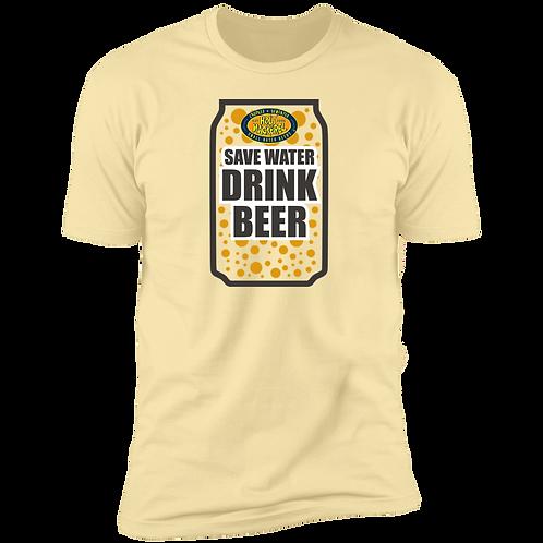 Save Water Drink Beer Premium  men's Short Sleeve T-Shirt