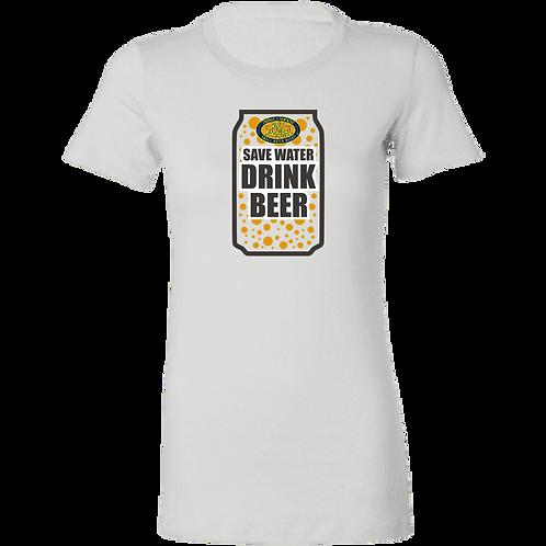 Save Water Drink Beer Ladies' Favorite T-Shirt