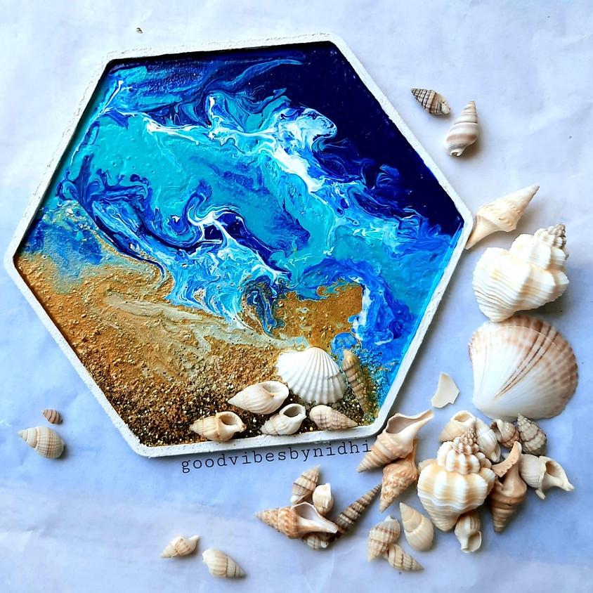 Acrylic Beach Pour Workshop