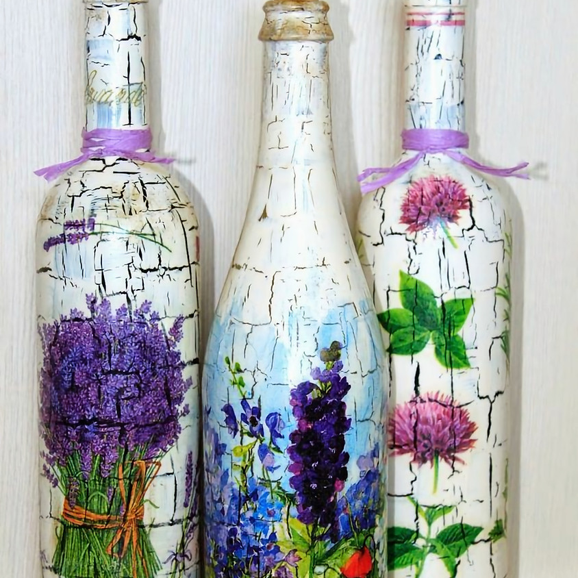 Crackle Effect (without a crackle medium) and Decoupage