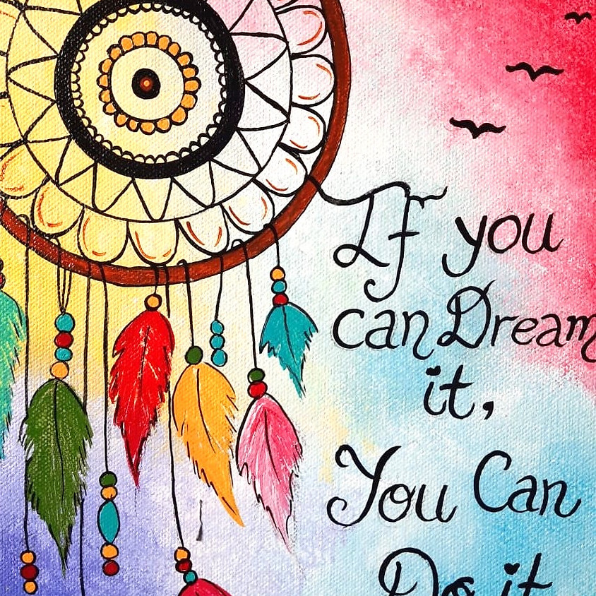 Dreamcatcher with an inspirational quote