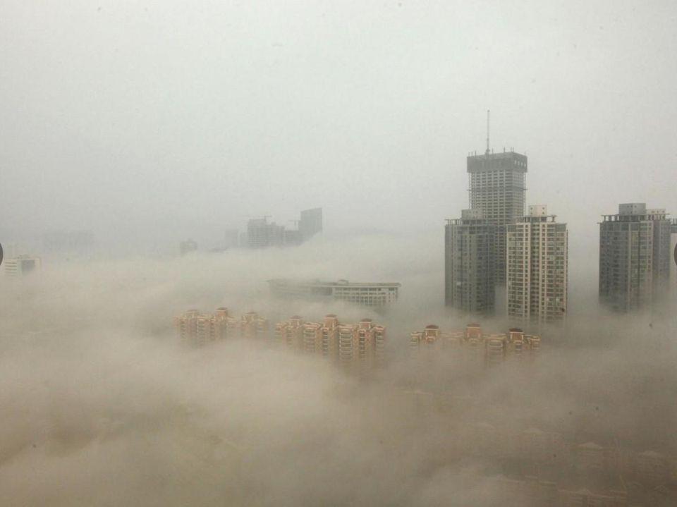 Pollution over Beijing
