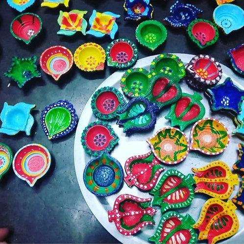 Diwali Special - Handpainted Diyas