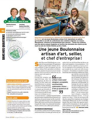Atelier Shazak article Boulogne Billancourt sellier