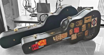 Restauration poignées d'étuis de guitares