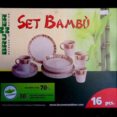 Melamine Set Brunner Bambu