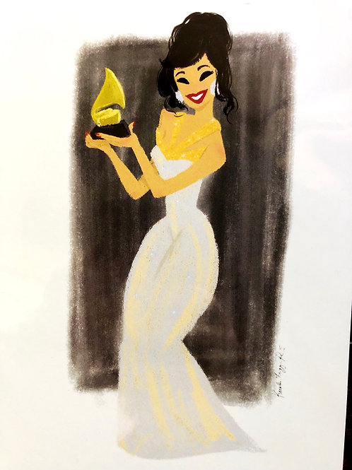 Selena at the Grammys 5x7