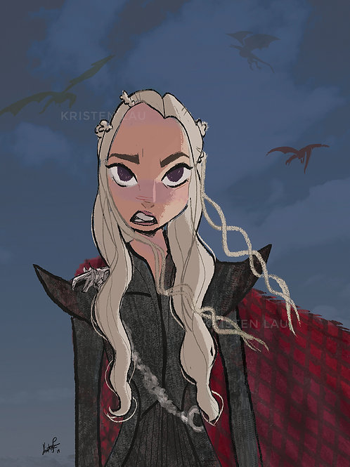 Dany And Her Children 5x7