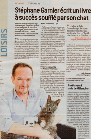 Stéphane Garnier écrit un livre à succès soufflé par son chat
