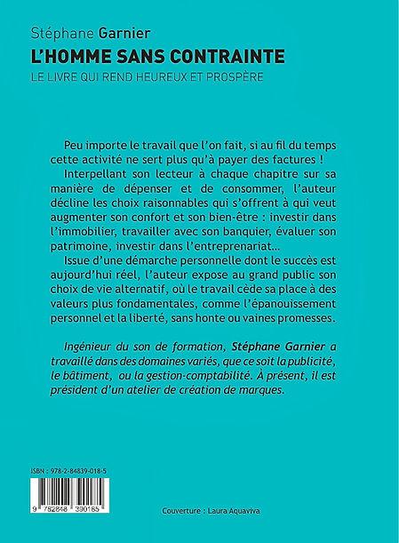Stéphane Garnier - l'homme sans contrainte - rentrée littéraire