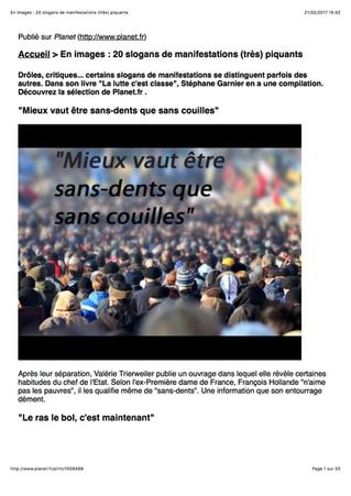 """Dossier sur Planet.fr pour """"La lutte c'est classe !"""""""