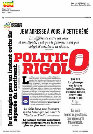 Presse : Perles de Politiques - VSD : double page