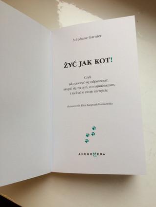Succès pour la sortie de la version polonaise d'agir et penser comme un chat : ZYC JAK KOT !