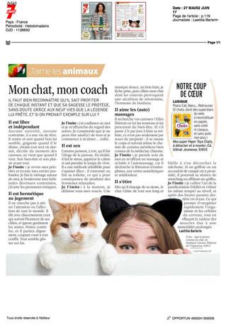 Télé 7 jours - Mon chat, mon coach !