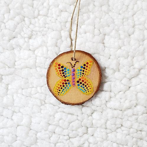 Rainbow Dot Butterfly Pendant