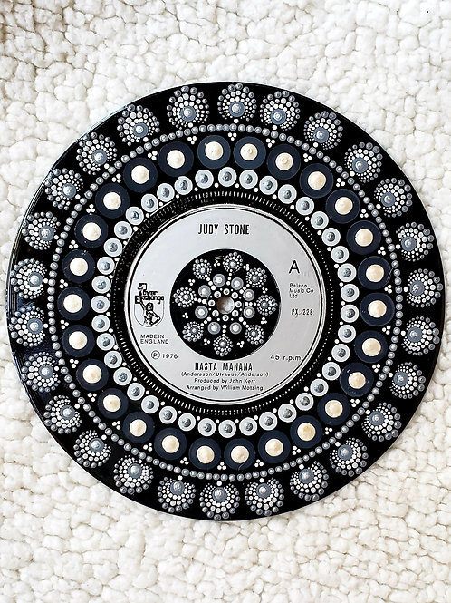 """Hasta Manana"" Dot Mandala on Vinyl"