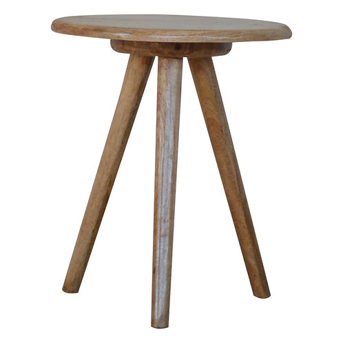 Solid Wood Tripod Stool / End Table