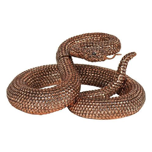Bronze Coiled Rattlesnake Ornament