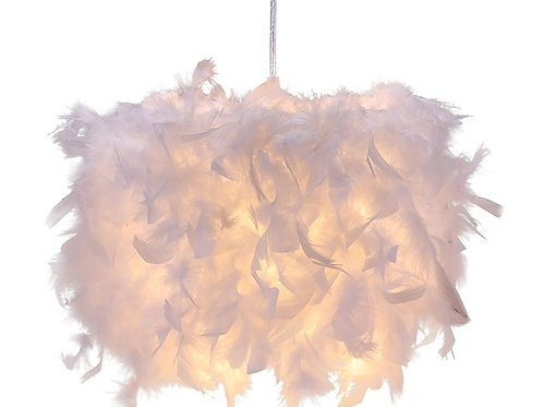 White Feather Ceiling Light Shade