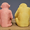 Thumbnail: Pair of Pink & Yellow Monkey Bookends