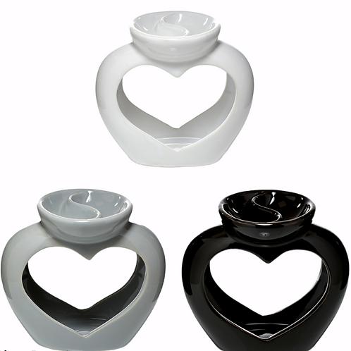 Heart Double Dish Oil Burner
