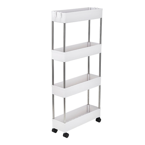 White Portable Shelf Unit