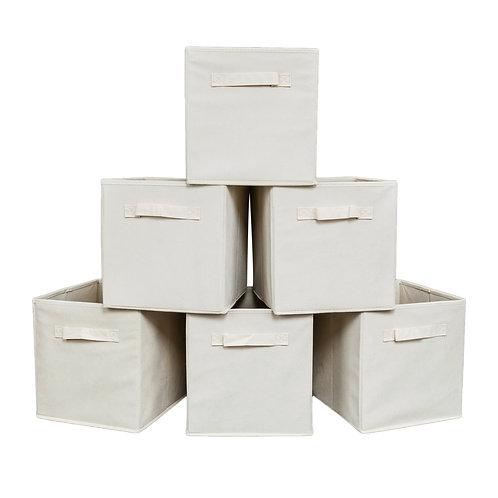 6 Folding Canvas Storage Boxes