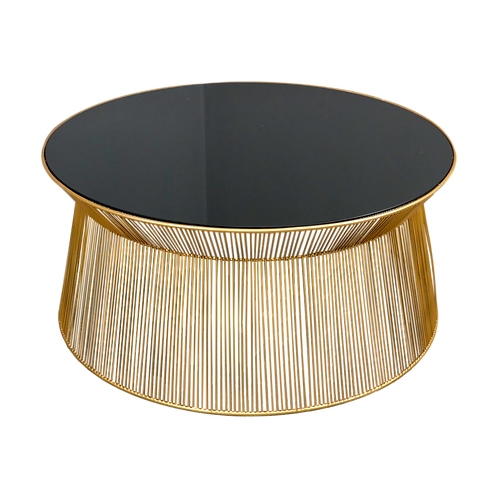 Gold Curve Coffee Table