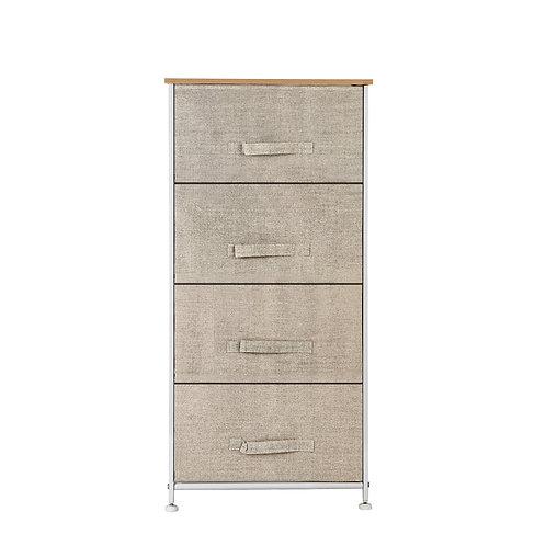 Set of Fabric Drawers - 4 Drawer