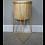 Thumbnail: Large Gold Raised Plant Pot Stand