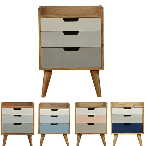 Gradient Bedside Cabinet - Choice of Colours