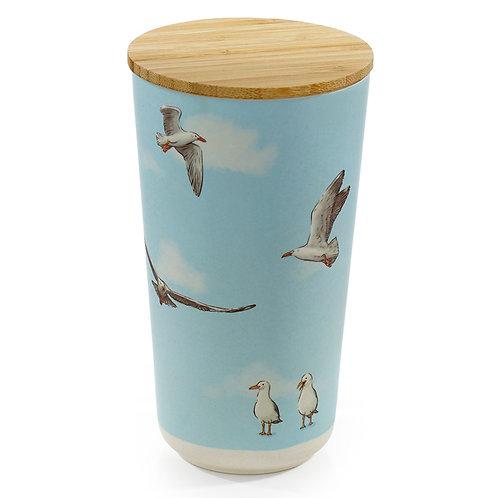 Bamboo Storage Jar - Seagull